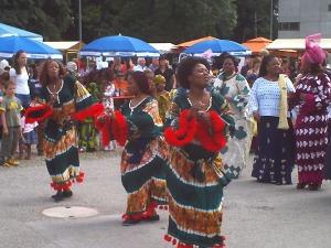 Afrikanische Tänze sind einwichtiger Teil der Kultur